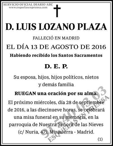 Luis Lozano Plaza